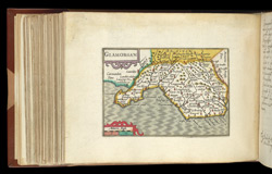 Map of Glamorganshire, from Atlas of the British Isles, Pieter Van Den Keere